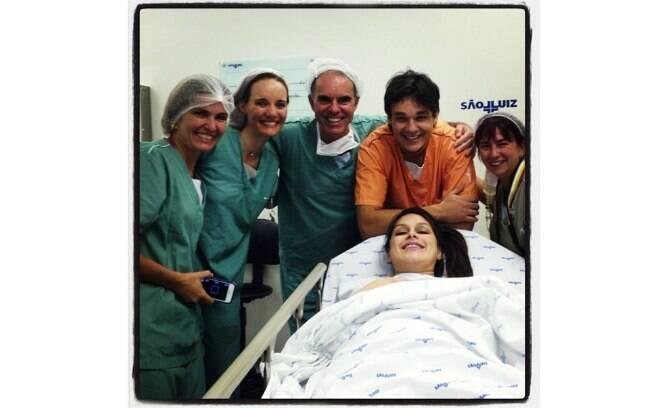 Natália Guimarães deu à luz na noite dessa quinta-feira (08)