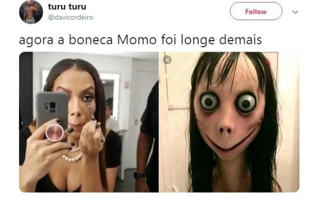 Comparações de Anitta com Momo