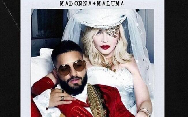 Madonna anuncia primeiro single de seu novo álbum com participação de Maluma