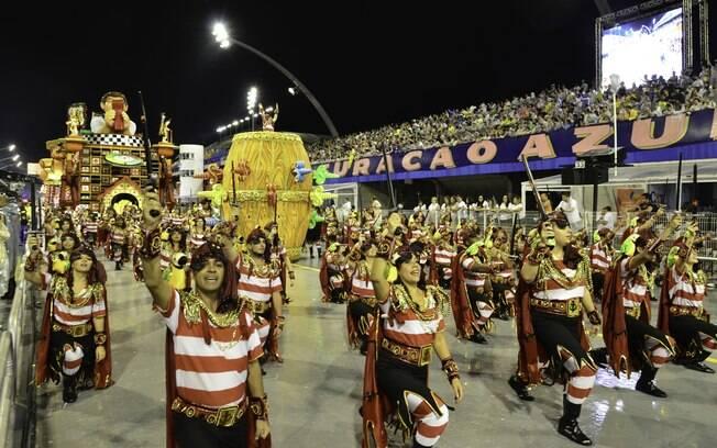 Ala da Dragões da Real - primeira noite de desfiles em São Paulo. Foto: Divulgação/SPTuris