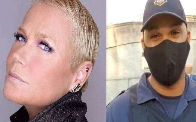 Xuxa homenageia guarda municipal