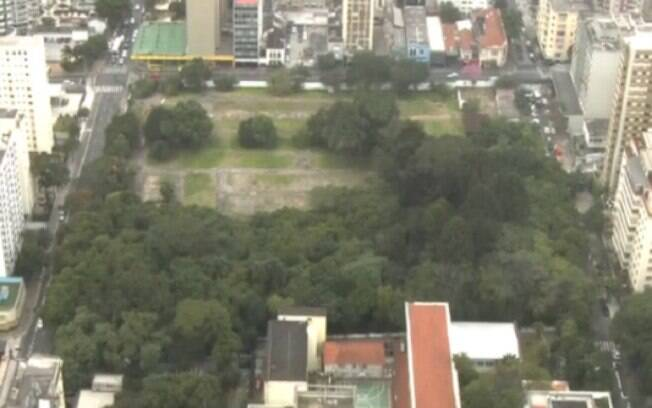 Área destinada para construção do Parque Augusta, em São Paulo