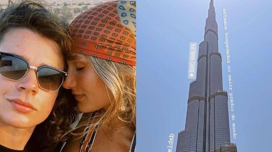 Sasha e João curtem lua de mel em Dubai