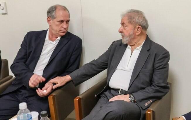 Ex-presidente Lula e Ciro Gomes