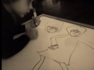 O pequeno José Bianchi Zavagli provoca admiração e assombro com seus desenhos.