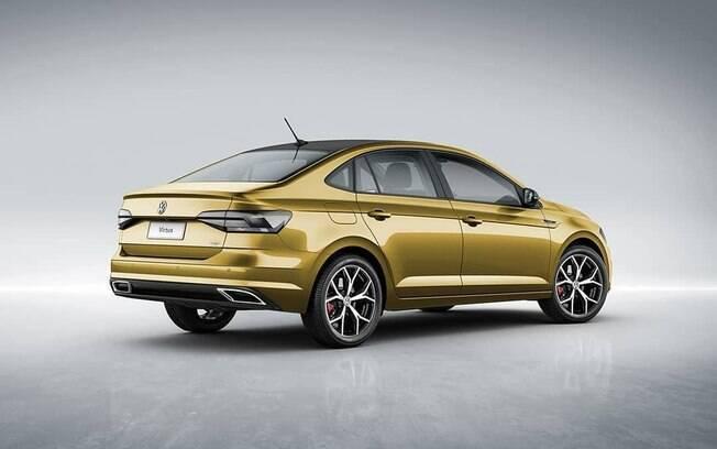 Virtus GTS, que deverá estar no Salão do Automóvel 2018, poderá ter lanternas traseiras do tipo fumê
