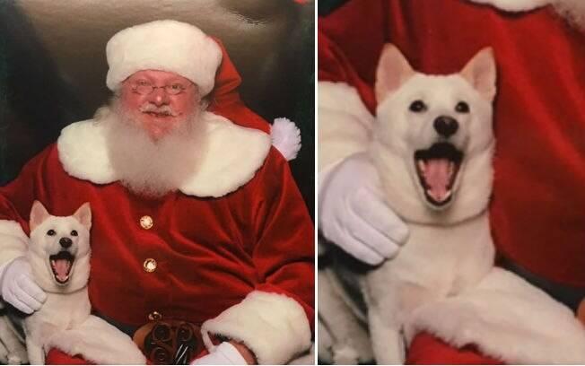 Naya não acreditou que existia um Papai Noel de verdade e que ela estava conhecendo ele