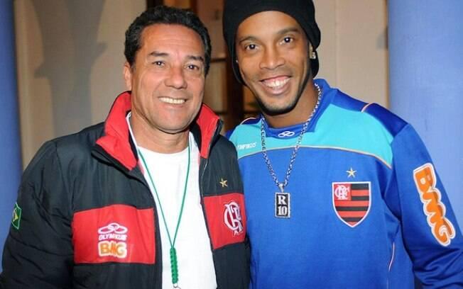 Luxemburgo e Ronaldinho: clima de paz volta a  reinar no Flamengo