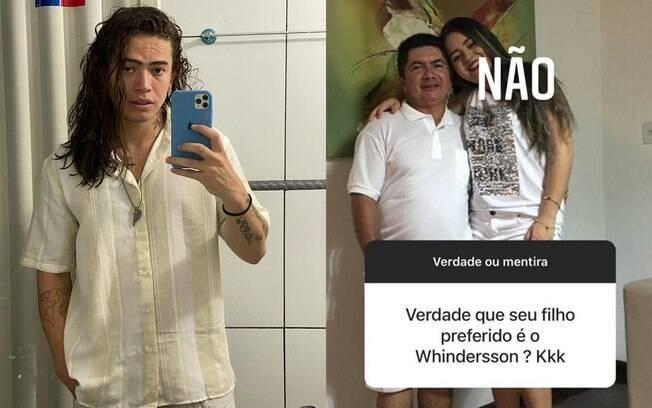 Pai de Whindersson Nunes fala que o comediante não é seu filho preferido