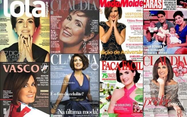 Fátima Bernardes em diversas capas de revistas
