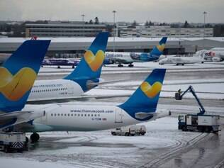 Neve suspende voos na Inglaterra