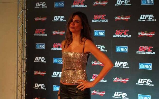 Luciana Gimenez chega ao UFC Rio