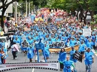 Cidades -  Do dia - Belo Horizonte MG 18 de maio  dia nacional da Luta Antimanicomial - Passeata na regiao central da capital entre a praca da Liberdade e praca da Estacao  FOTOS: MARIELA GUIMARAES / O TEMPO 18.5.2015