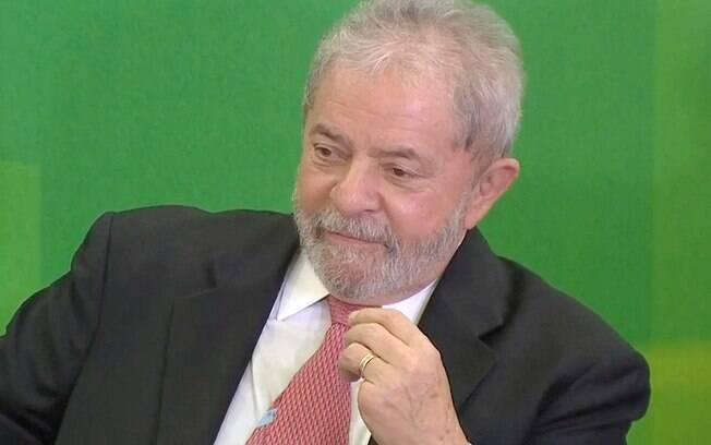 Ex-presidente Luiz Inácio Lula da Silva durante a cerimônia de posse na Casa Civil