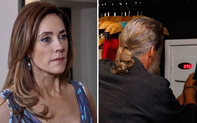 Tereza Cristina flagra Pereirinha fuçando no cofre de sua mansão