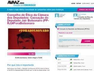 Internautas se organizam em pedido pela cassação do deputado Jair Bolsonaro (PP-RJ)