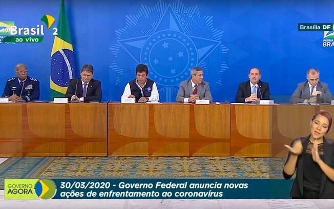 Coletiva desta segunda (30) reuniu ministérios diversos para tratar do covid-19
