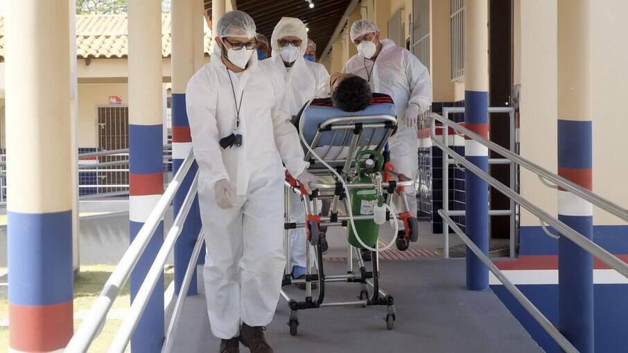 Profissionais de saúde trabalhando durante a pandemia no Pará