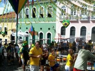 Salvador está colorida para ver o jogo da seleção brasileira