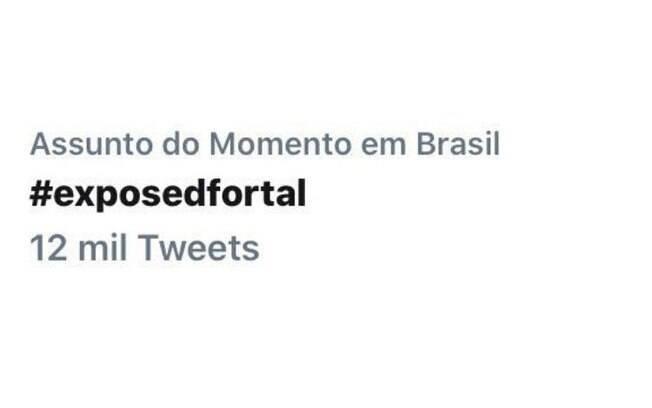 A hashtag ExposedFortal é a mais comentada no twitter