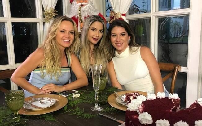 Eliana, Jaque Alves e Rebeca Abravanel, filha de Silvio Santos
