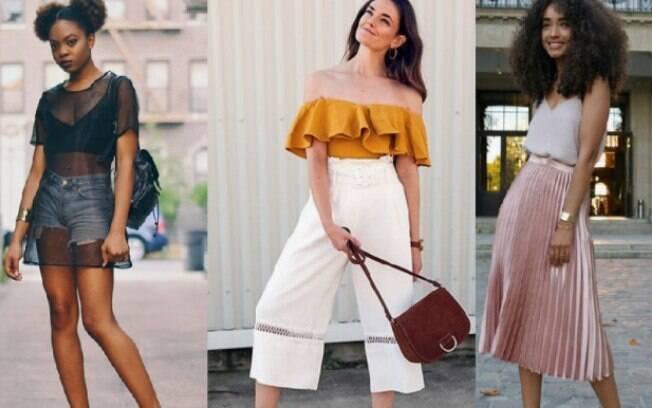 O que foi tendência de moda em 2017 pode voltar em 2018, como as transparências, babados, e peças metalizadas