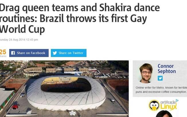Site inglês dá destaque para a Copa do Mundo gay em Manaus