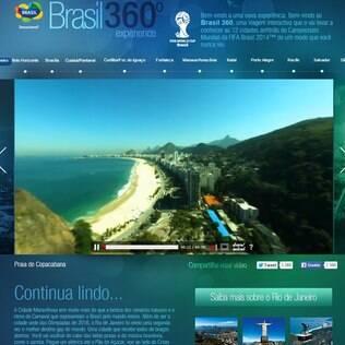 O site Brasil 360º explora as cidade do país que foram sede na Copa do Mundo de 2014