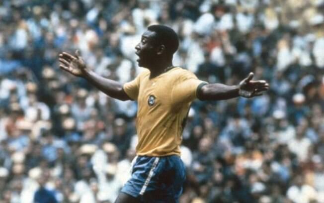Pelé na Copa de 1970