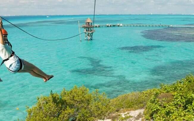 Isla de Mujeres localizada próxima à cidade Cancún