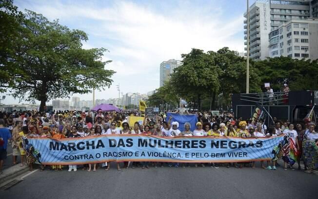 Marcha das Mulheres Negras, realizada no domingo (29) no Rio de Janeiro