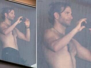 Bradley Cooper no Hotel Fasano, no Rio, nesta terça-feira (28)