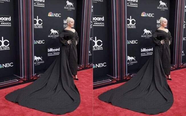Christina Aguilera é uma das famosas  que apareceram fashion e  arrasaram nos looks durante a semana