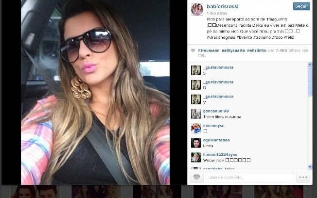 Babi Rossi posta frases enigmáticas em seu Instagram