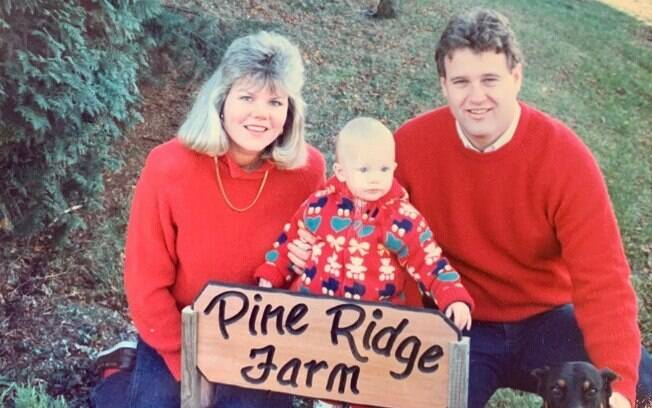 Taylor Swift e os pais, Andrea e Scott