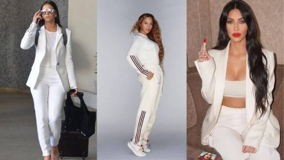 O look branco pode ganhar com acessórios diferentes