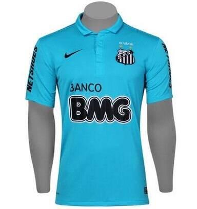 66740d8283108 Santos divulga nova camisa azul. Você gostou  Vote - Futebol - iG