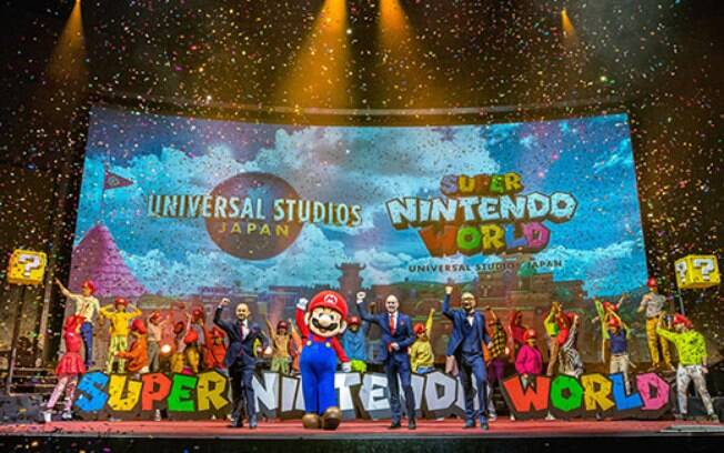 Anuncio da Super Nintendo World