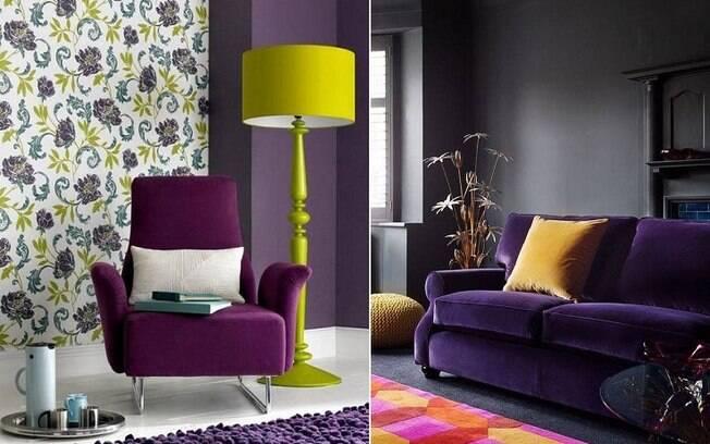 A cor também fica bem em móveis, como sofás, poltronas, gabinetes e estantes, e pode ser combinada com outras cores