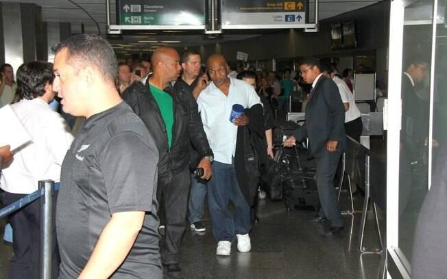 Mike Tyson chegando no Brasil