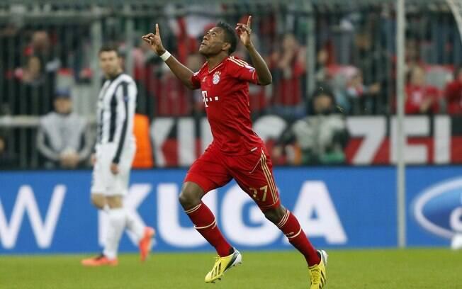 Alaba comemora gol do Bayern de Munique  contra a Juventus