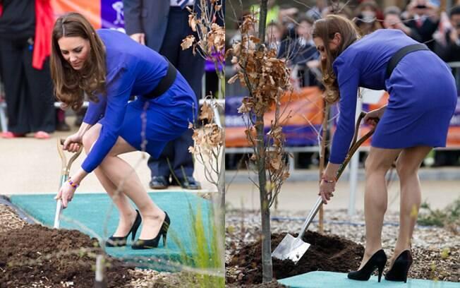Kate Middleton plantou árvore em seu primeiro discurso como Duquesa