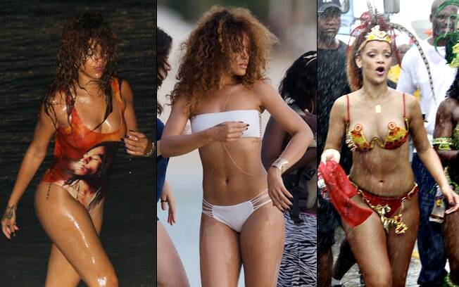 Os modelitos de praia de Rihanna