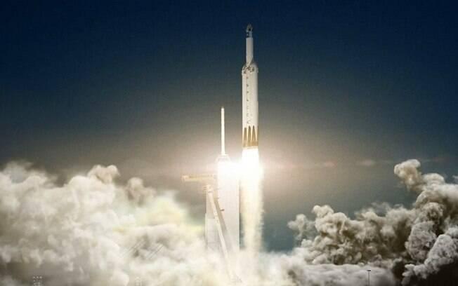 Falcon Heavy: foguete autônomo retorna à superfície da Terra depois que cumprir sua missão no espaço