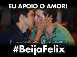 O perfil humorístico Félix Bicha Má criou uma campanha pelo beijo gay em