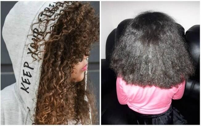 No post que viralizou, a mãe compartilha uma sequência de fotos da garotinha de oito anos chorando após alisar o cabelo