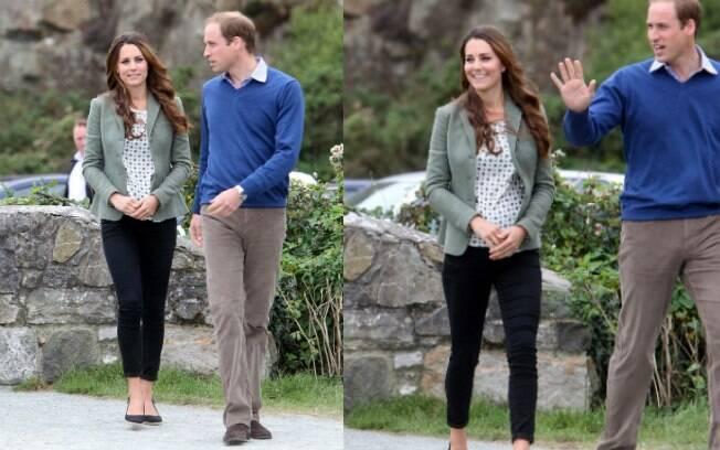 Kate Middleton e Príncipe William nesta sexta-feira (30) no primeiro evento oficial