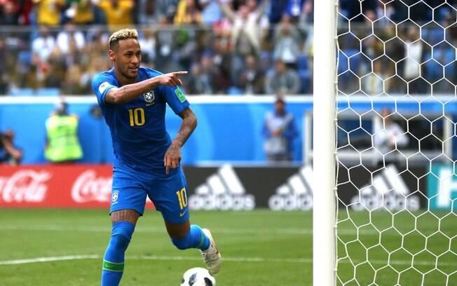 Neymar fez o segundo do Brasil e decretou o 2 a 0 contra a Costa Rica