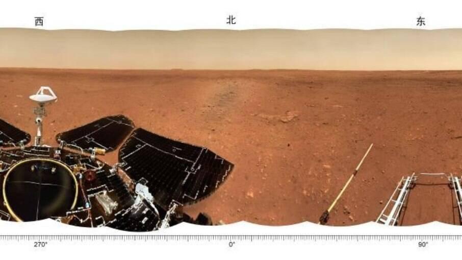 Foto panorâmica do rover chinês