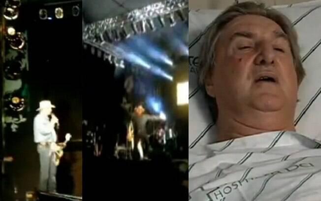 Sérgio Reis cai durante show no interior de Minas Gerais
